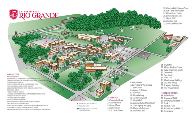 Rio Grande College >> General Campus Maps